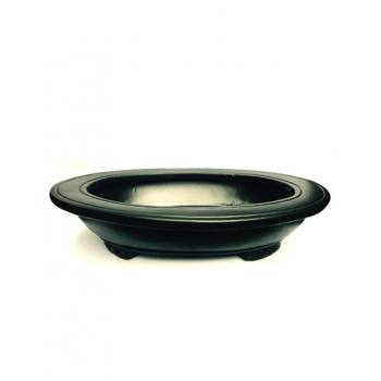 OVAL BONSAI POT BLACK