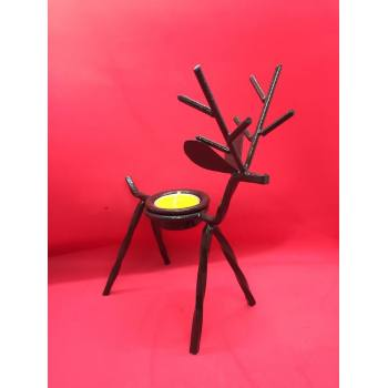 Rein deer candle holder