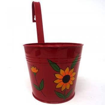Single railing planter red...