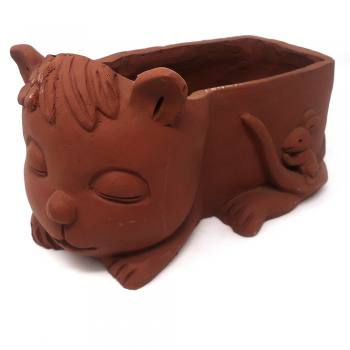 Cat shaped (square ) pot
