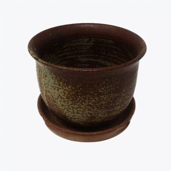 KC Ceramic pot matt brown (s)