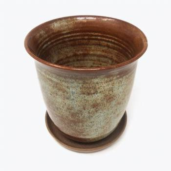 KC Ceramic pot glossy brown...