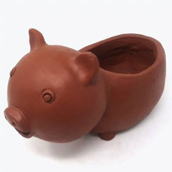 Pig shaped pot
