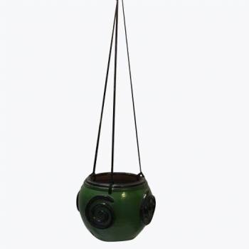Snail rim hanging pot green...