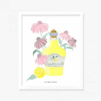 Limencello- Wall Art framed...